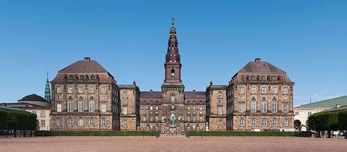 Château de Christiansborg de Copenhague au Danemark